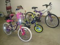 "I have 3 children bicycles large (Girl 24""x 1.95,"