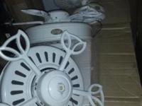 3 CAST IRON CEILING FANS BLADES ARE INCLUDED BRAND: