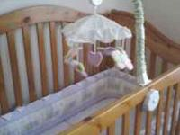 Honey oak Baby crib. Bought at Baby Depot in