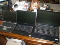 I am willing to trade my 3 Laptops in great working