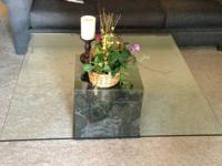 These 3 Matching Glass TOp tables are available for
