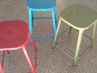 3 metal stools, like new, purchased at Pier 1.  Selling