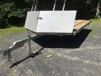 selling sled bed, tandem axle/ drive on - off trailer.