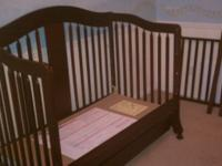 3 Stage Convertable Crib with bottom storage drawer &