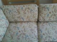 SOFA OFF WHITE COLOR WITH LITTLE FLOWER PRINT