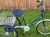 "3 Wheel BicycleAdult 24"" GlintSeven Speed with Front"
