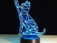 cat lovers hears a 3D beckon cat shape touch colorful