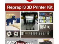 We sell Reprap i3 3D Printer kits for $699+tax and
