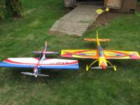 I have for sale two RTF rc airplanes, the first is an