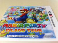 2 3DS video games.  Mario party island- $25. Has video