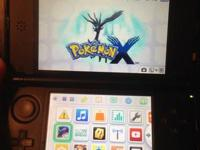 Fire red 3ds xl adult owned with pokemon x and a nerf