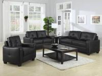 (C)This leather love seat will certainly make a