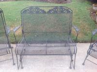 Type:FurnitureType:Patio Furniture Black wrought iron