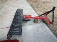 3 pt. land scape rake, call jim for info@1- no emails