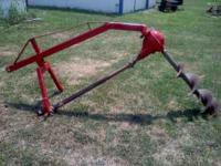 For sale I have a 3pt. post hole digger with a 10 inch