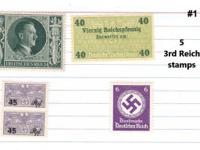 WW II 13 - 3rd Reich Hitler stamps near mint NEW