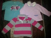 This 3t lot of girl's clothes include 7 long sleeve