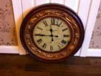 This is a working 3x3 decorative wall clock . Text or