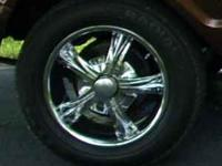 "18"" Forte wheels and 245/60/18 Kumho tires, less than"