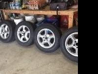 "4- 2002 BMW X5 17"" rims and 4 Michelin Energy MXV4 Plus"