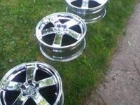 "Enkei LM1 18"" chrome rims . These are rims only. The"
