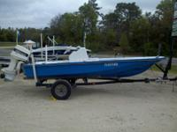For sale is a very nice 16? center console flats boat