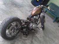 Custom Yamaha xs 650 bobber. Frame has been raked and
