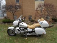 Pearl White 1999 Honda Valkyrie Interstate with only