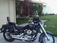 2007 Yamaha V-Star Silverado 650 in Raven Blue and