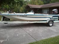 Comes with trailer. Boat is carport kept. Johnson 175