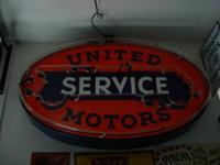 vintage original United Motors Service single sided