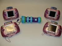 Up for sale are (4) Pink Leapster Leap Frog Handhelds,