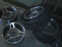 "I have 4 15"" rims that came off a Ford Mustang. They"