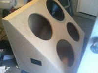 "4 BRAND NEW, NEVER USED VERITAS 15"" SUBWOOFERS. COME"