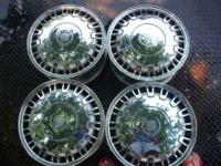 "4 Sale 4 16"" alum. 50th anv. 1999 Caddy DeVille wheels"