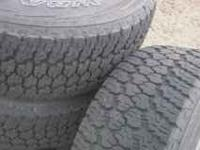 4 Dodge Ram 1500 wheels and tires for sale. Alloy