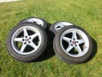 I HAVE FOUR 17 INCH COBRA RIMS 5 LUG. THE FRONT HAVE