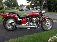 2008 Yamaha Vstar 650 custom with 221 miles on it.