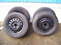For sale i have (4) 225/60/16 tires mounted on steel 01