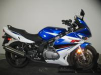 2009 Suzuki GS500FK9 in Blue/White with only 2,940