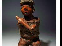 A stunning pottery figure from the Nayarit culture in