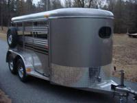 Deluxe Tandem Axle w Mats, Pewter Finished Galvanneal