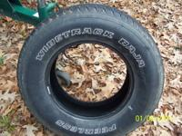 Have for sale 4 matching white letter tires. Bought