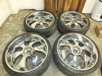 "(4) Velocity Model 780 26"" X 10"" RWD wheels w/chrome"