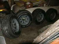 For Sale Tires and Wheels, 4 - 33 X 12.50 X 16.5 Load