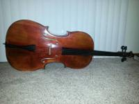 Selling my complete size cello. This cello was bought