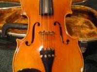This violin was purchased for me when it was new. I