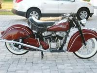 Offered for sale is this fully restored 1948 Indian