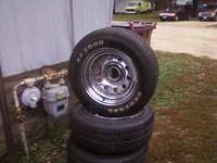 4 5 bolt 15 inch rims an tires for sale, i just had