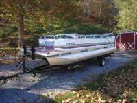 1996 Tahoe 20 ft Pontoon Boat for sale or trade. The